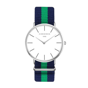 Slim Quartz Watch with Simple Nylon Band