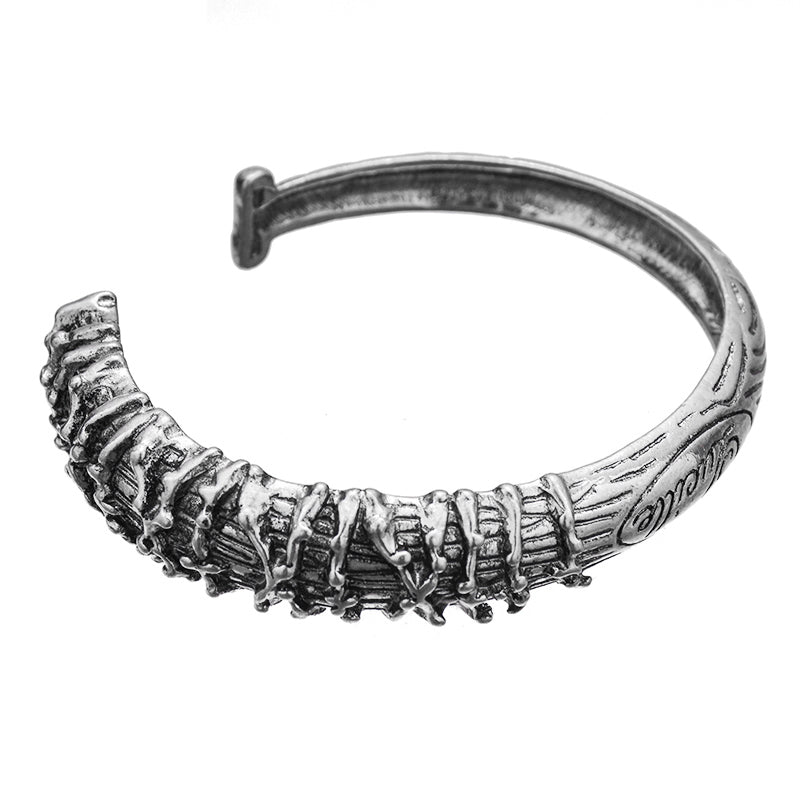 Antique Silver Plated Lucille Bangle