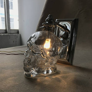 Glass Skull Bar Light / Wall Sconce