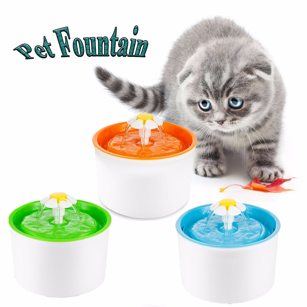 Flower Drinking Fountain for Cats