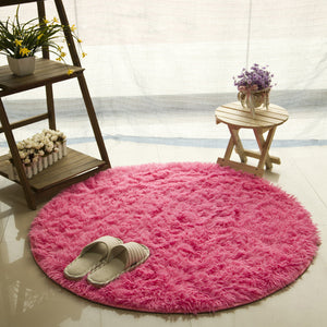 Fluffy Round Area Rugs