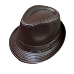 Men's PU Leather Casual Fedora Hat