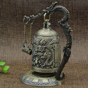 Carved Buddhist Dragon Bell