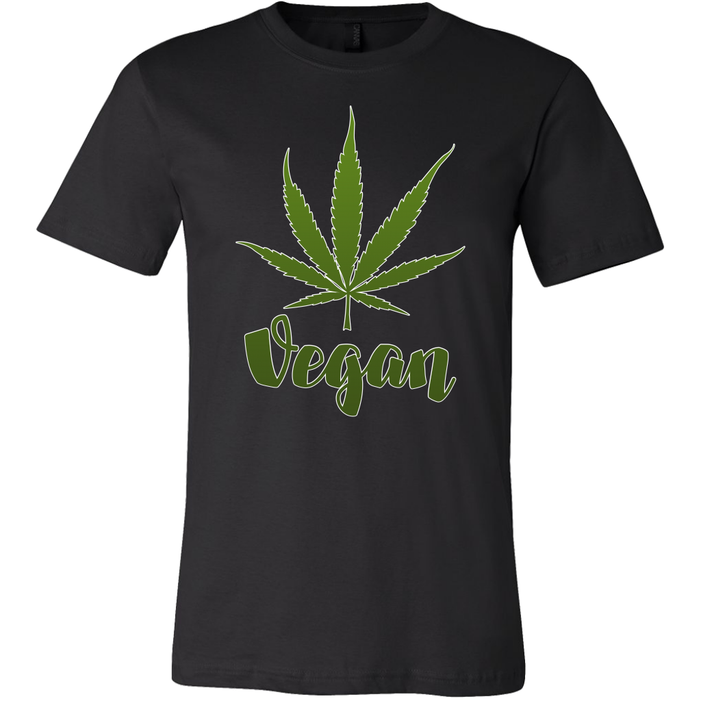 Funny Weed T-Shirt and Hoodie - Vegan Marijuana Leaf