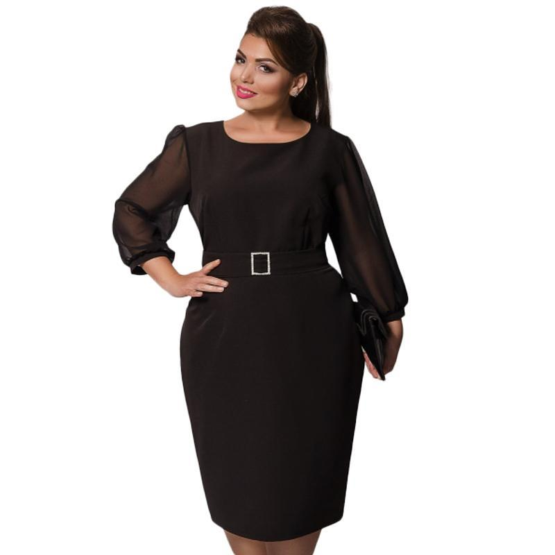 Plus Size Semi Formal Dress + Free Belt – FashionWrld