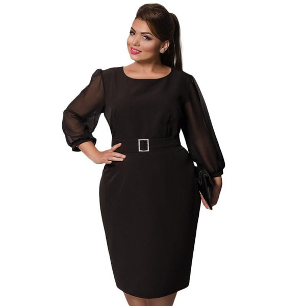 Plus Size Semi Formal Dress Free Belt Fashionwrld