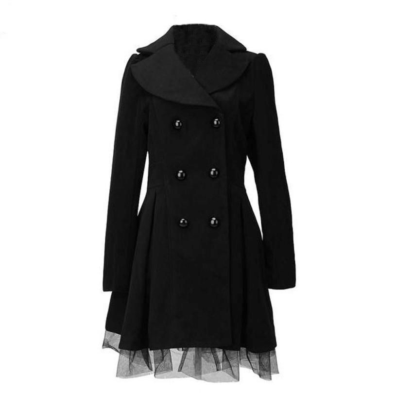 Luxury Trench Peacoat Jacket