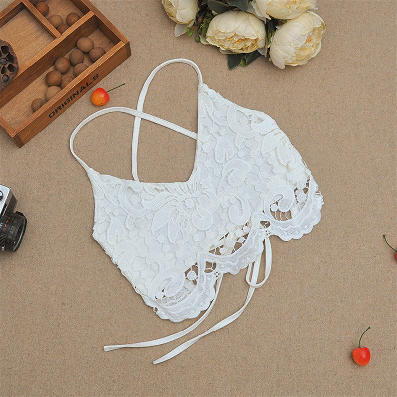 Lace Strappy Back Crop Top