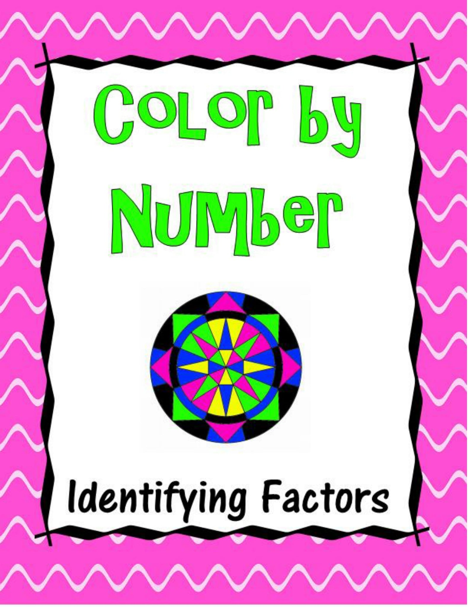 Identifying Factors Color by Number – Funrithmetic