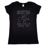 Led Zeppelin Black USA 77 Juniors Tee