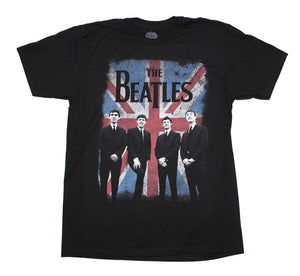 Beatles Distressed Union Jack Photo T-Shirt
