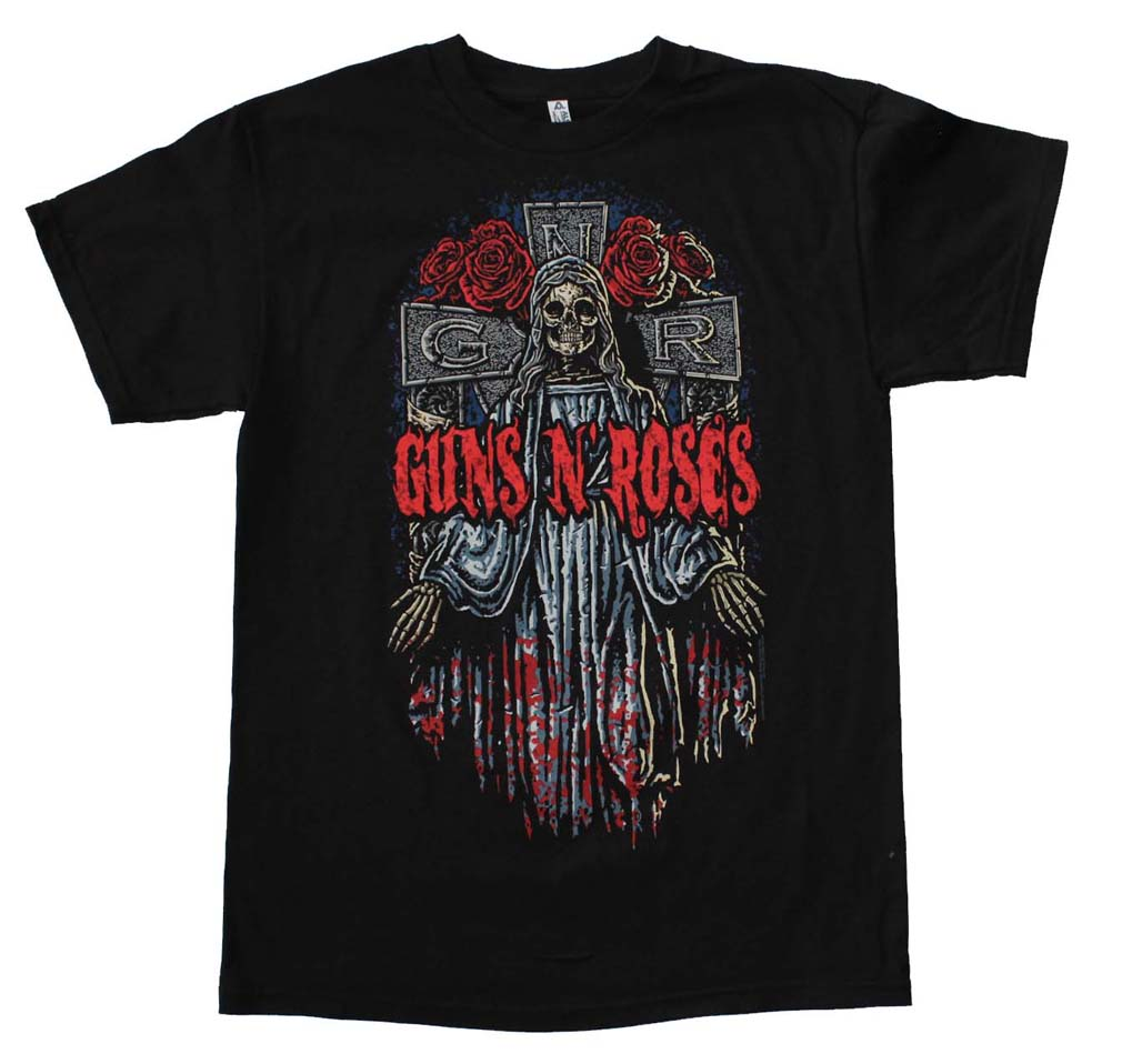 Guns n Roses Skeleton Cross T-Shirt