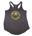 Guns n Roses Distressd Logo Women's Racerback Tank - Heather