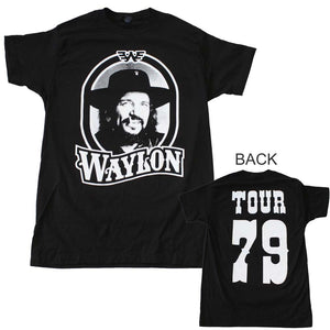 Waylon Jennings Tour 79 Black T-Shirt