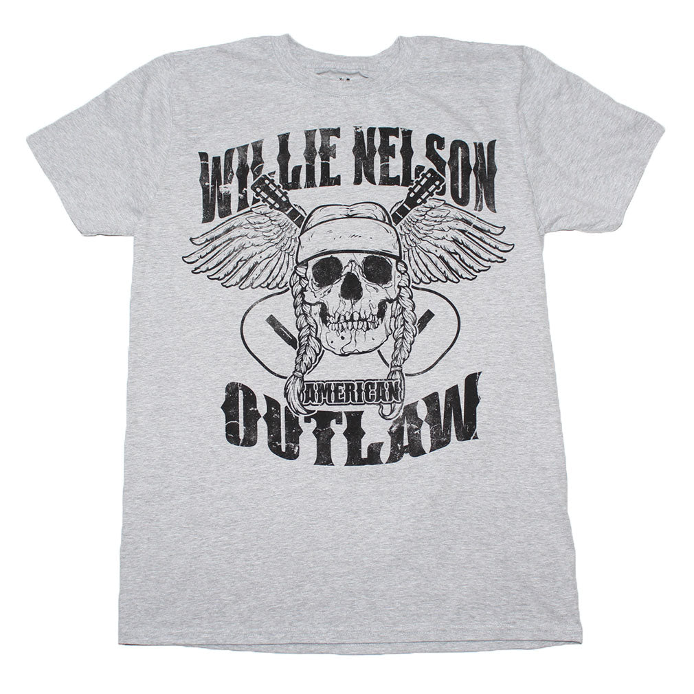 Willie Nelson Outlaw Skull T-Shirt