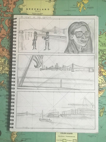 SeqArt Bay Bridge comic