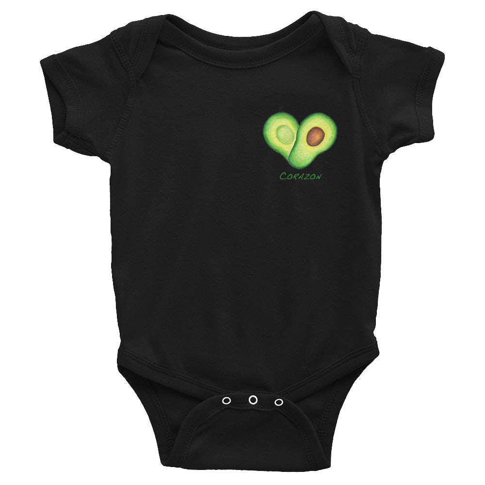 Avocado Heart Infant Bodysuit