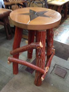 Barstool - Star - Walnut & Oak with Sassafras Legs