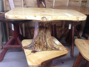 End Table - Tree Stump & Slab Pine