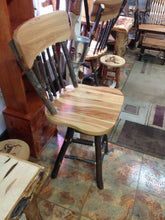 Barstool - Hickory, Spindle Back, Swivel Seat
