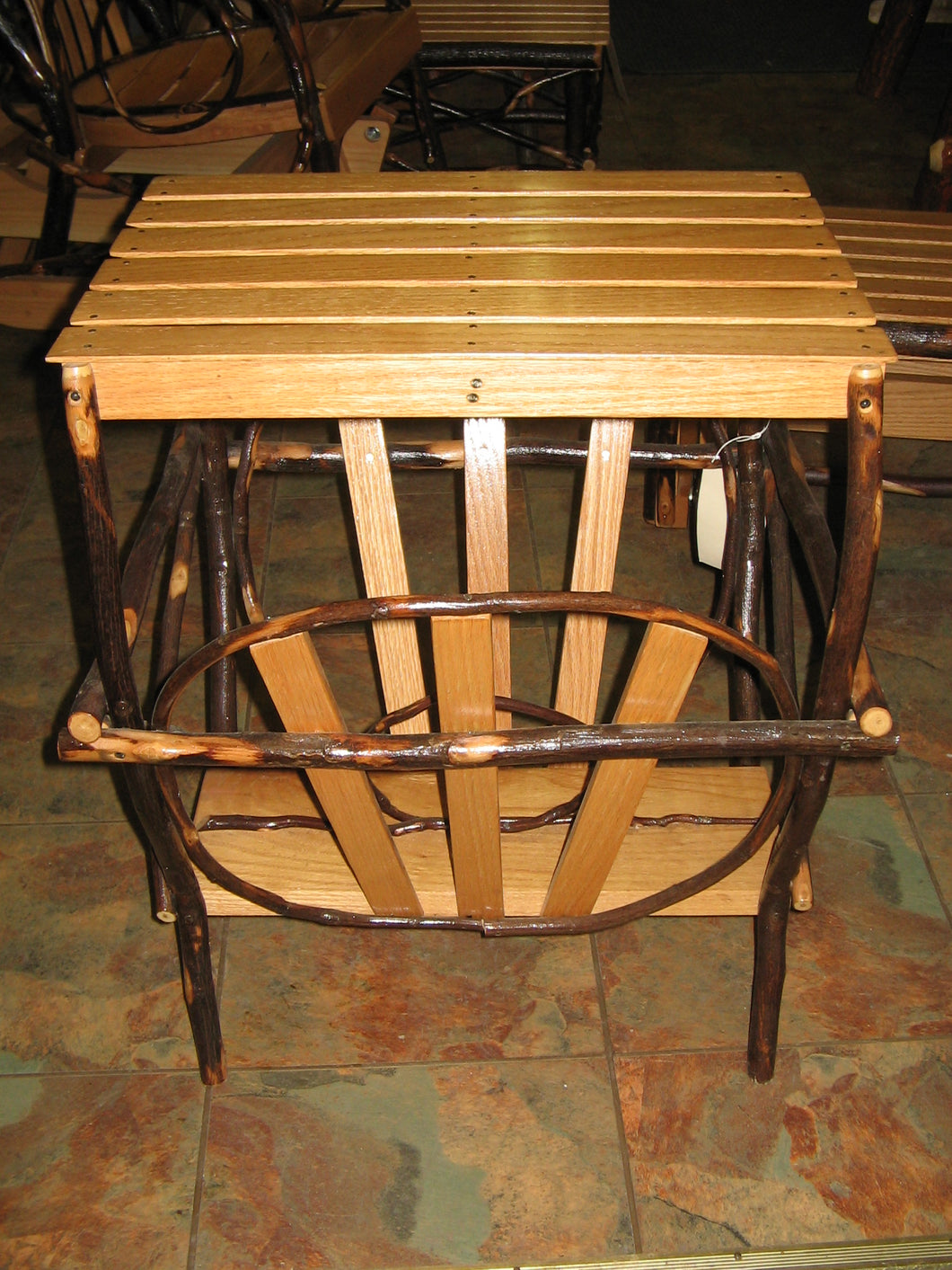 Magazine Table - Bentwood Hickory Slats