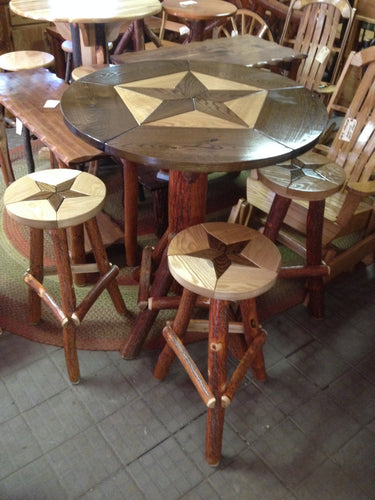 Pub Table Set - Star - Oak, Walnut & Sassafras