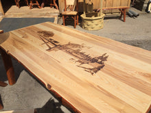 Table Set - 5' Oak, Walnut or Cherry & Sassafras (Includes two 4' benches and two kitchen chairs)