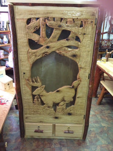 Gun Cabinet - Carved Door