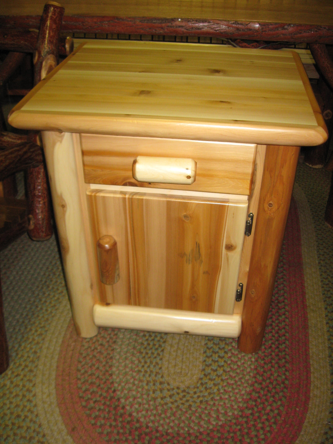 Nightstand - White Cedar - With Drawer & Door