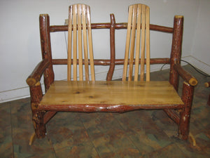 Double Rocker - Oak, Walnut or Cherry & Sassafras