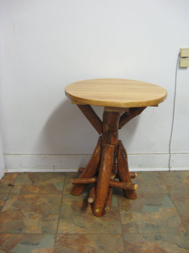 End Table - Round Oak, Walnut or Cherry & Sassafras