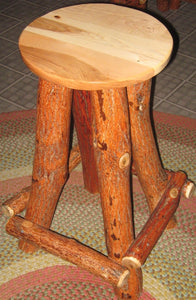 Bar Stool - Backless, Swivel Seat