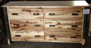 Dresser - 6 Drawer (Side by Side) - Hickory
