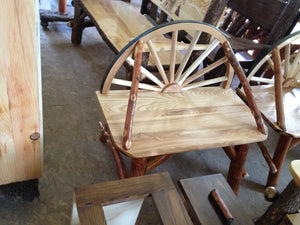 Chair - Wagon Wheel, Oak & Sassafras