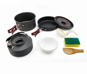 8 Pieces Camping Cookware