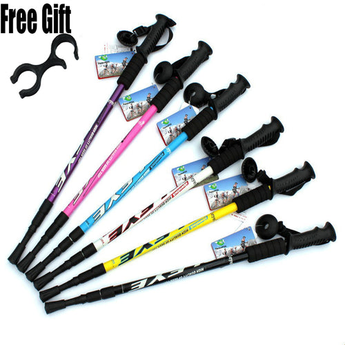 Adjustable Anti-shock Hiking Poles Pair