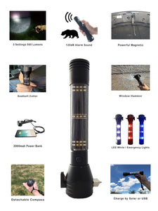 9-in-1 Multi-Function Flashlight & Survival Tool