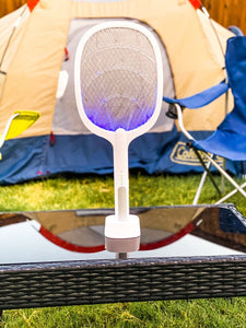 2-IN-1 ELECTRIC SWATTER & NIGHT KILLING LAMP USB Rechargeable