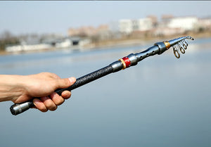 Portable Carbon Fiber Telescopic Fishing Rod