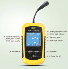 Load image into Gallery viewer, 100M Portable LCD Fish Finder