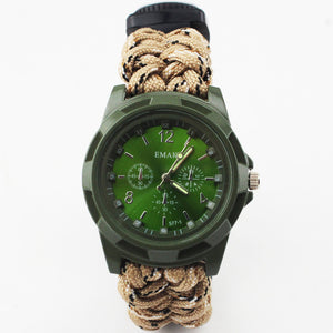 Military Multi-functional Paracord Watch