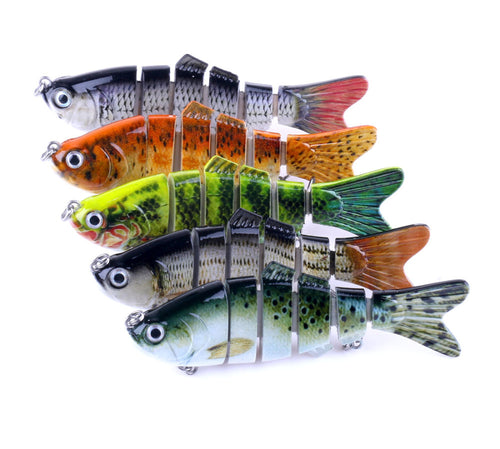 6 Segment Swimbait Crankbait Fishing Lure