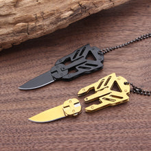 Load image into Gallery viewer, Transformers Decepticon Necklace Survival Tool