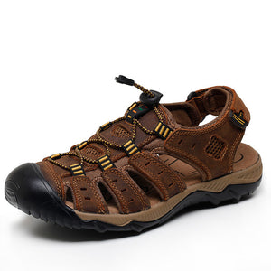 Men's Hiking Leather Breathable Sandals Shoes