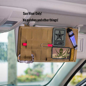 Multi-pocket Tactical Sun Visor Panel