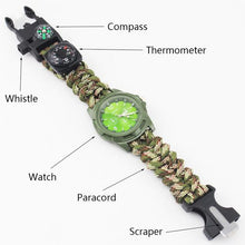 Load image into Gallery viewer, Military Multi-functional Paracord Watch