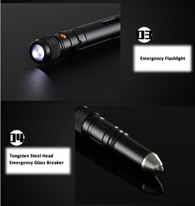 SC 4-In-1 Tactical Pen | Flashlight, Bottle Opener, Glass Breaker