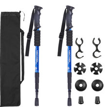 Load image into Gallery viewer, Trekking poles 2-pc Pack Adjustable Hiking or Walking Sticks