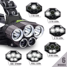 Load image into Gallery viewer, 5 LED USB Rechargeable Headlight