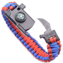 Load image into Gallery viewer, Multi-function Paracord Survival Bracelet